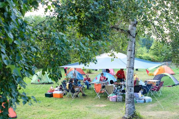 スキレットと焚き火のキャンプ03