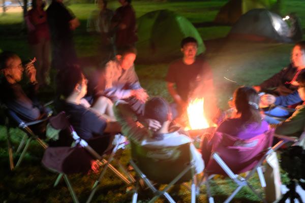 スキレットと焚き火のキャンプ08