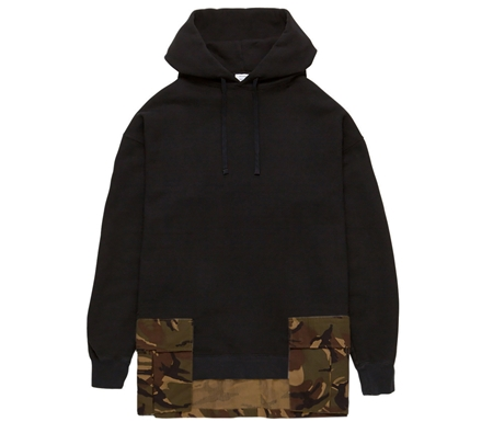 MGL-LCS01 MILITARY POCKET HOODIE BLACKテ佑AMO_R