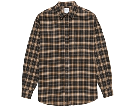 MGL-SH01 NEL CHECK OVER SHIRT BEIGEテ唯ROWN_R