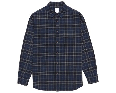MGL-SH01 NEL CHECK OVER SHIRT NAVYテ宥REY_R