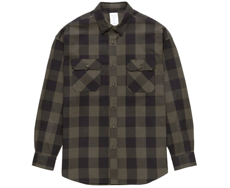 MGL-SH02 BUFFALO CHECK SHIRT KHAKIテ唯LACK_R