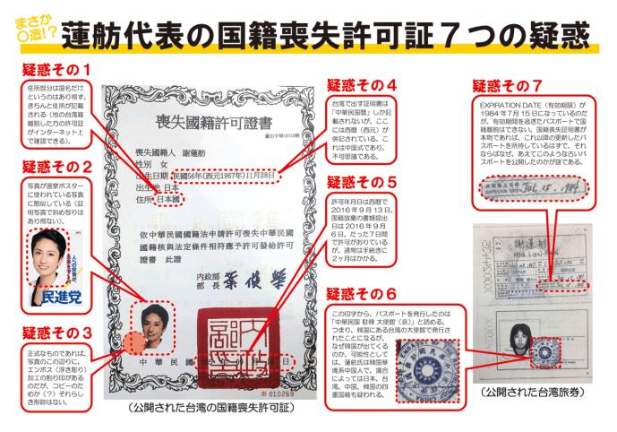 台湾公文書の偽造