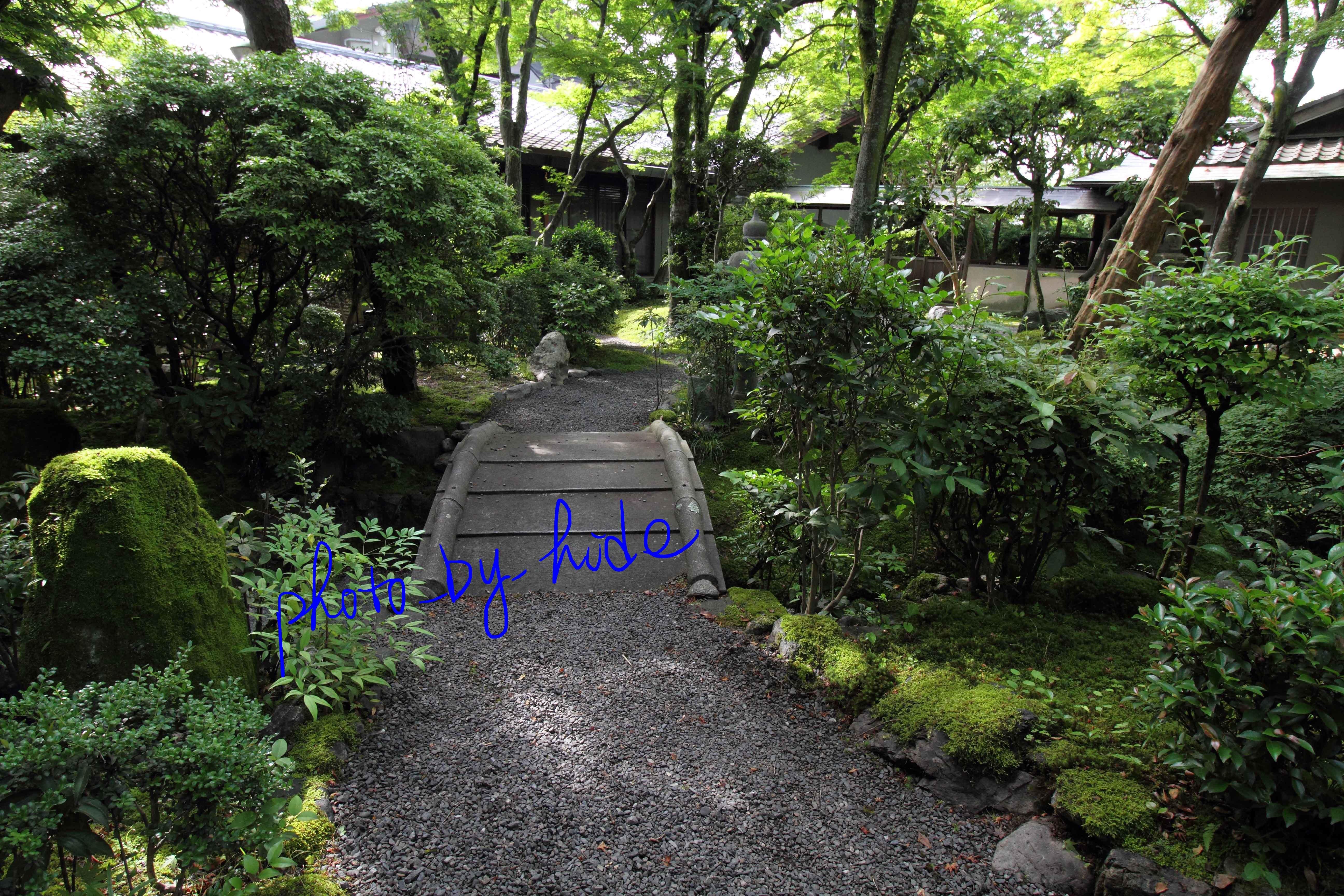 嵐山花の家中庭3