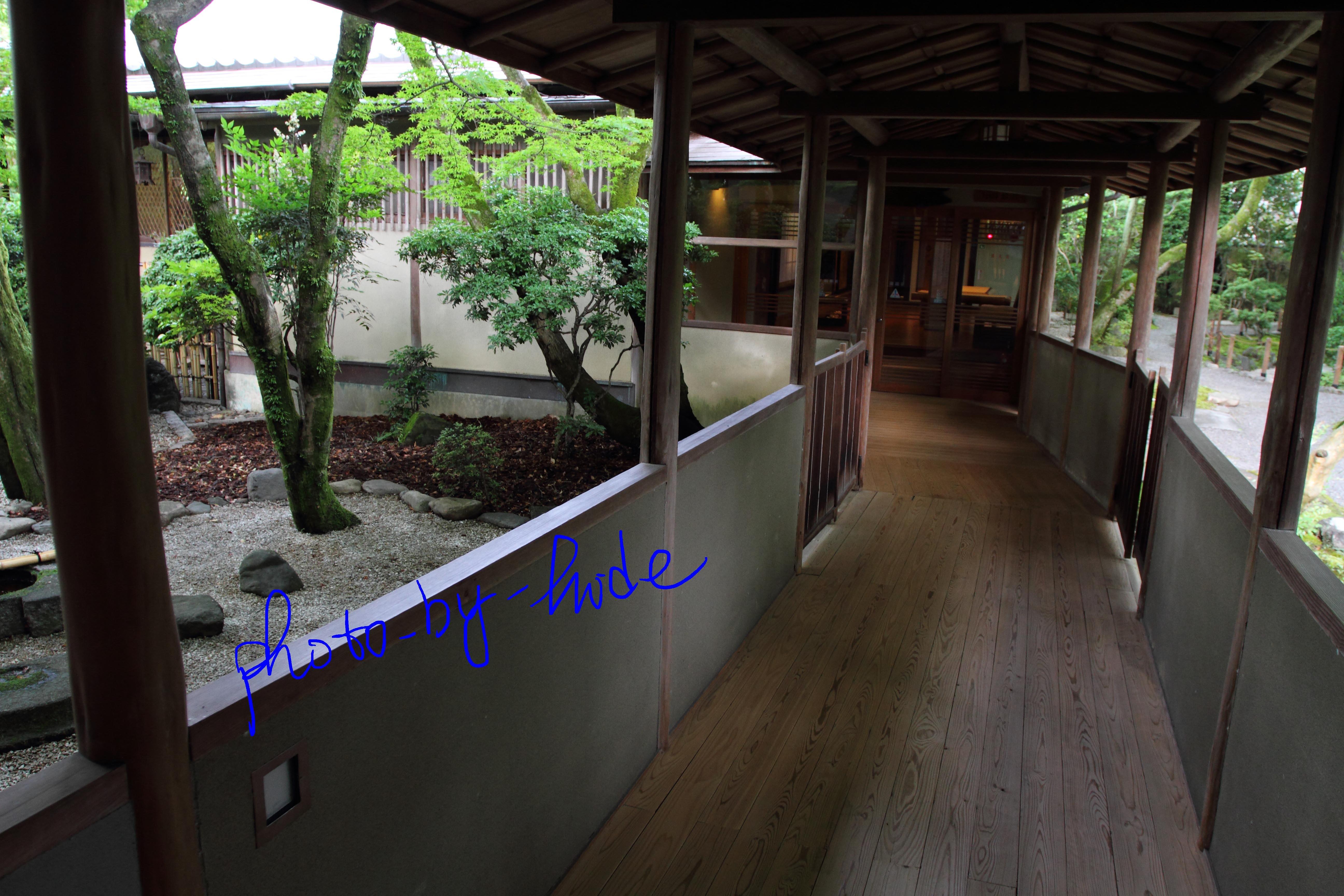 嵐山花の家朝食場所へ