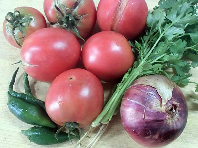 トマトとハラペーニョ