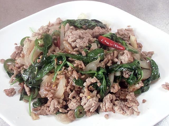 挽き肉炒めタイ風味