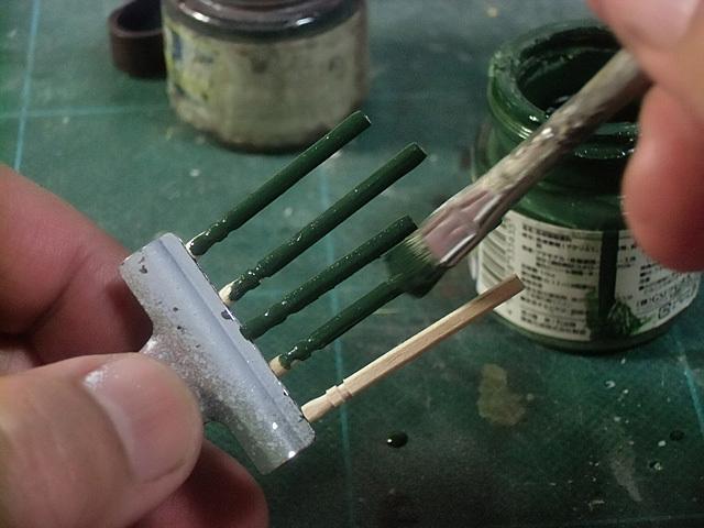深緑で塗る