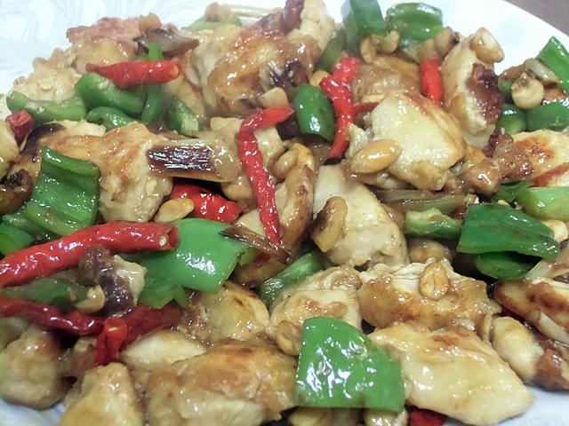 鶏と唐辛子炒め