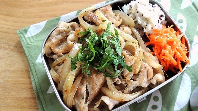 豚肉の山椒炒め弁当ズーム
