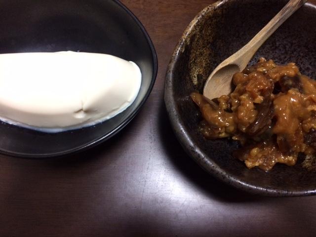 もろみと豆腐