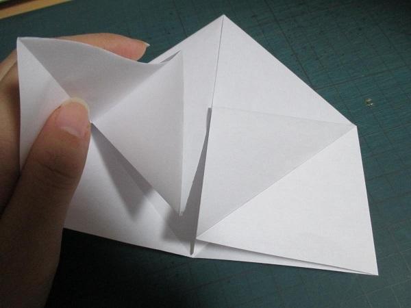 1鶴を折るように
