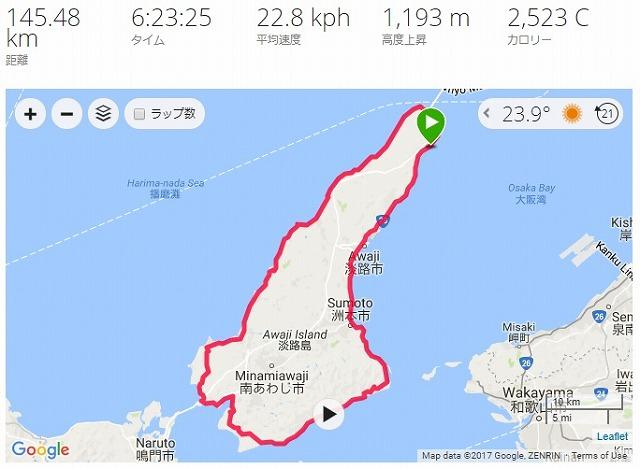 2017淡路島ロングライド150_ルート