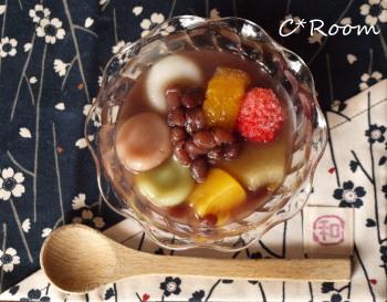 和菓子(冷やしぜんざい)01