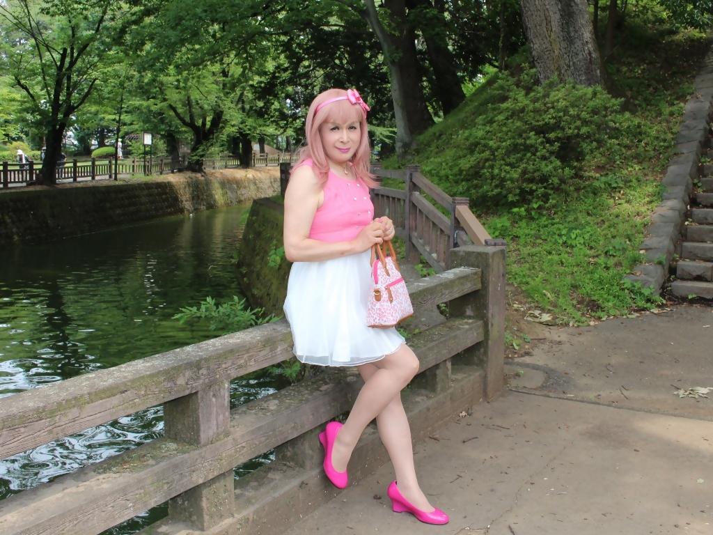 上ピンク下ホワイトワンピC(7)