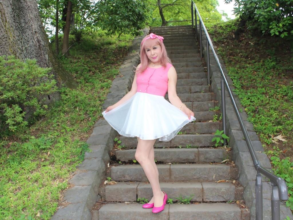 上ピンク下ホワイトワンピD(11)
