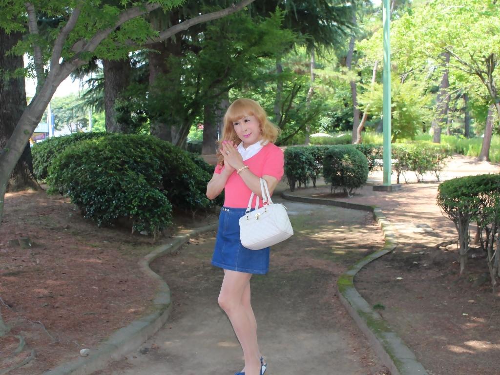 ピンクのトップスデニムミニスカB(5)