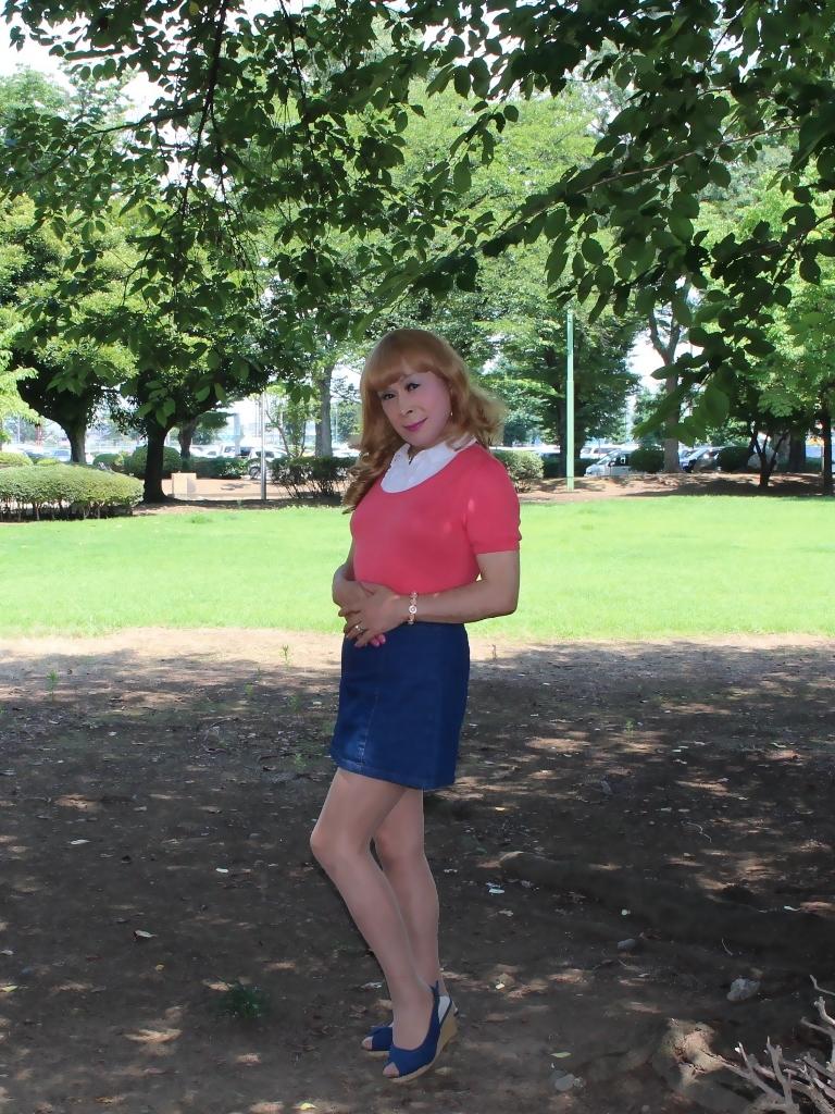 ピンクのトップスデニムミニスカB(7)