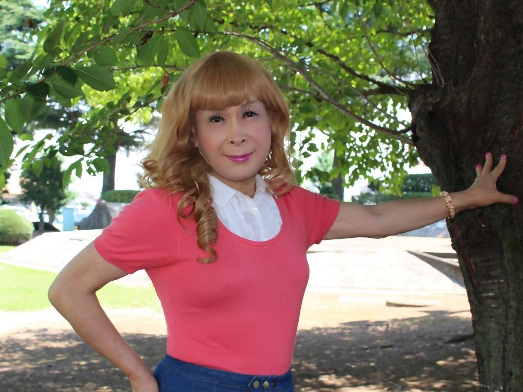 ピンクのトップスデニムミニスカC(6)