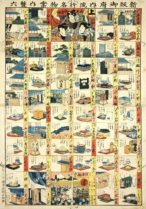 江戸時代の名物料理屋のランキング式双六