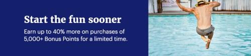 ハイアットホテルのポイント購入で最大40%のボーナスポイント