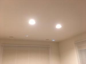 ダウンライト調色機能で電球色