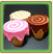 三色アイスクリームテーブル
