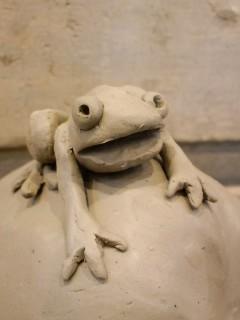 南瓜角灯の蛙