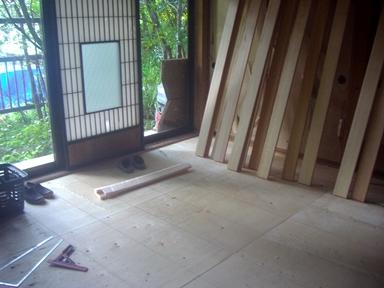 床の修繕4