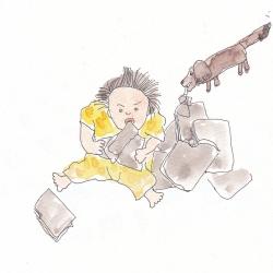 いもあられ@ウチの娘こいもちゃんとウチの犬ちくわ