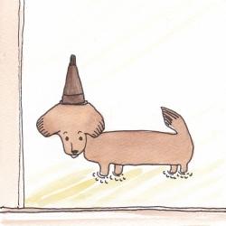 いもあられ@ウチの犬ちくわにご褒美
