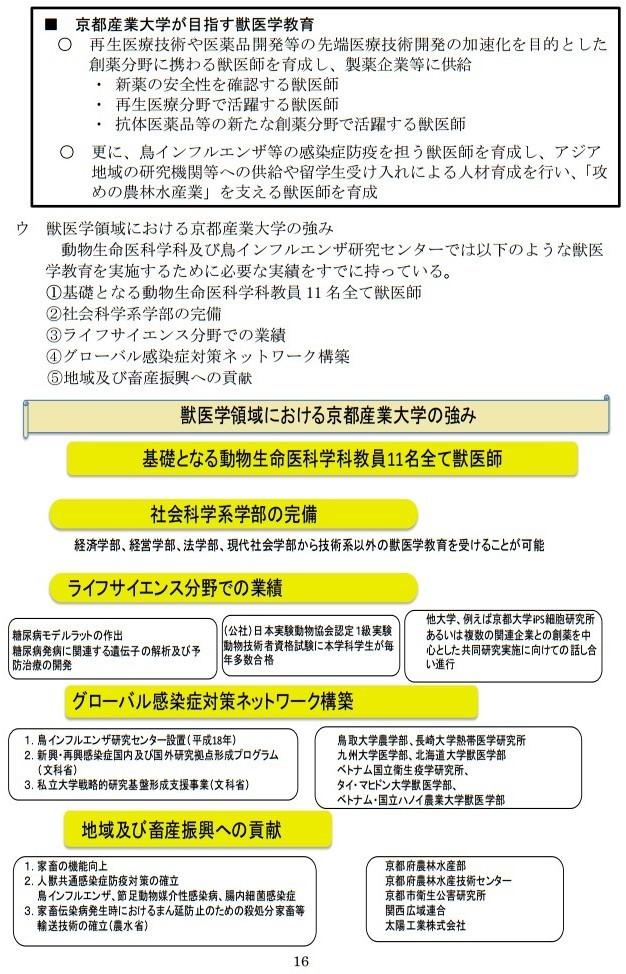 20161017「京都産業大学 獣医学部設置構想について」国家戦略特区ワーキンググループ提案に関するヒアリング (16)