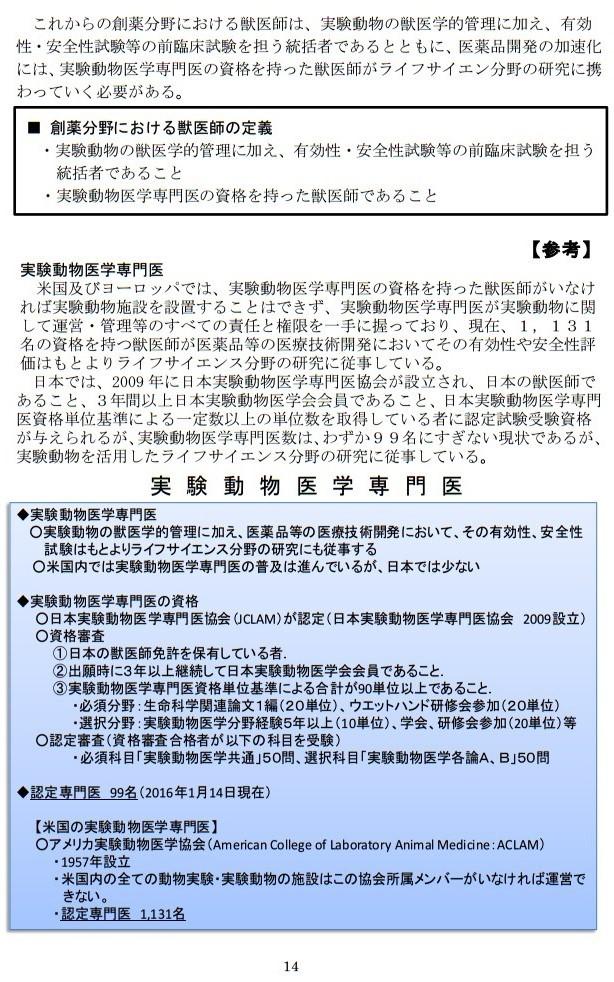 20161017「京都産業大学 獣医学部設置構想について」国家戦略特区ワーキンググループ提案に関するヒアリング (14)