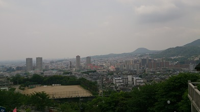 景色fromのりちゃんのお寺から