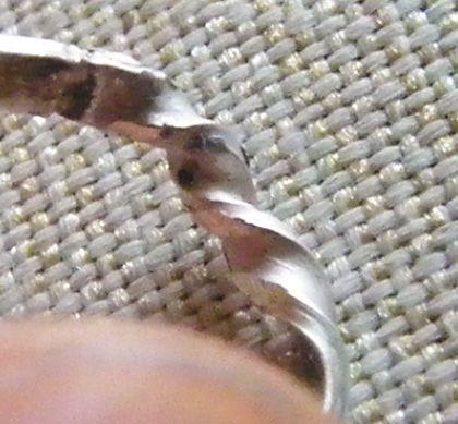 平角線を捻ったシルバーリング2