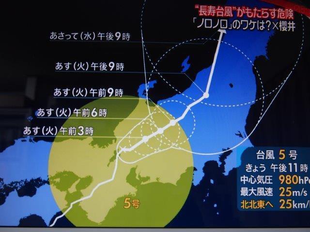 台風5号(3)