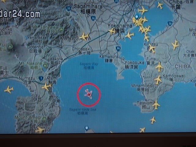 全日空37便 事故発生地点