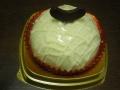 メロンとミルクプリンのケーキ