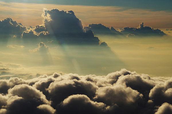 滋賀県上空の雲