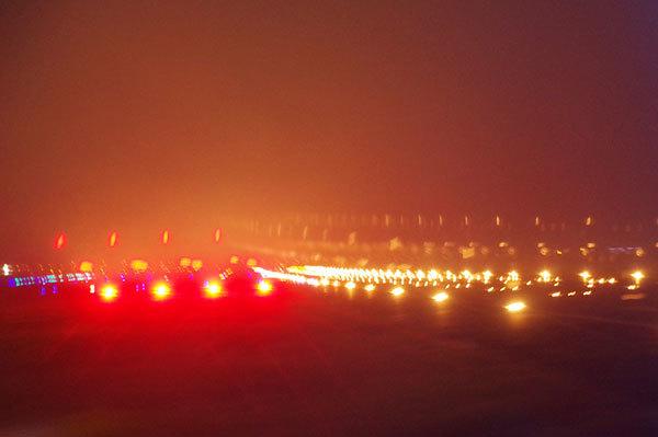 仙台空港の滑走路