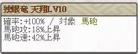 独眼竜 天翔Lv10