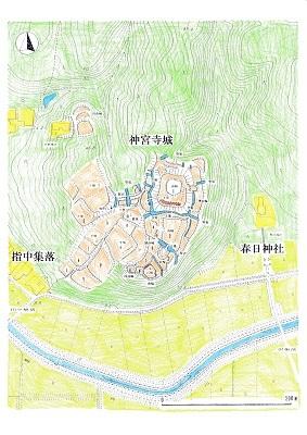 神宮寺城遺構模式図2