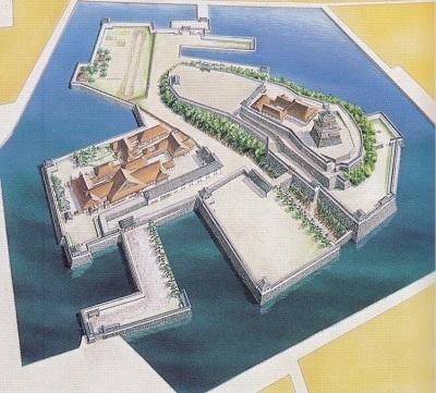 丸岡城復元見取り図
