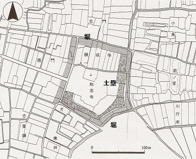 長崎(館)城地籍図