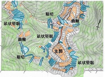 波多野城跡遺構模式図