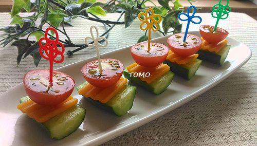 ミモレット de きゅうりとトマトのピンチョス