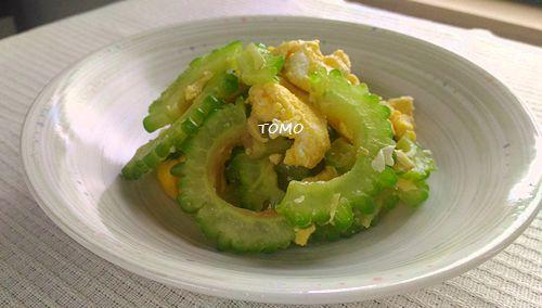 ゴーヤと卵の生姜炒め