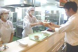 社員食堂の調理補助