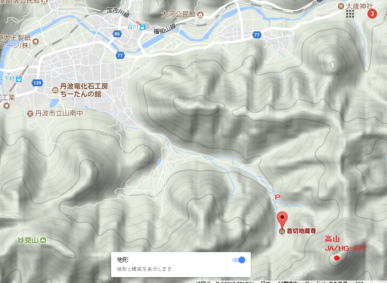 2017丹波高山/地図