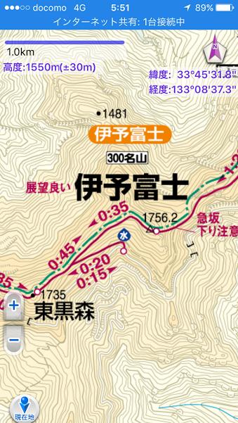 伊予富士/地図